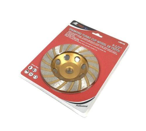 "15.5/"" ATE Pro USA 40178 4-1//2/"" Diamond Turbo Cup Wheel 18-Teeth 20.5/"" Length"