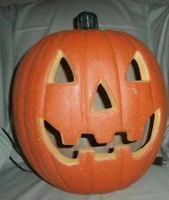 large  Halloween Pumpkin Jack-O'-Lantern Blowmold Indoor Electric Lighted