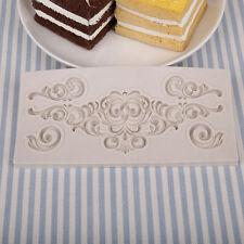Baroque Designed Border Cake Chocolate Bread Decorating Baking Mould Tool