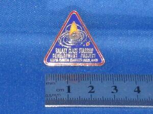 Star Trek Next Generation Galaxy Class Starship Development Pin Badge STPIN255