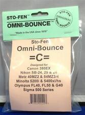 Sto-Fen Omni-Bounce C Diffuser f/Minolta 5400xi/hs Flash Stofen -Free World Ship