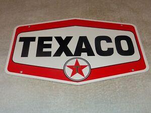 VINTAGE-TEXACO-GASOLINE-11-3-4-034-PORCELAIN-METAL-OIL-PUMP-PLATE-ADVERTISING-SIGN