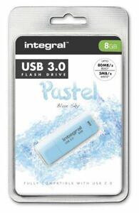 Integral-8GB-Blue-Sky-Pastel-USB-3-0-Flash-Drive-INFD8GBPASBLS3-0