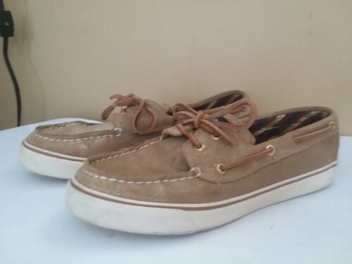 Lovely SPERRY TOP Sider Gold Flat Casual Boat  Shoes Size 8 ~S468