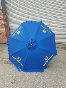 Fosters-lager-beer-1-8-MTR-ROUND-PARASOL-PUB-GARDEN-CAFE-blue-brand-new