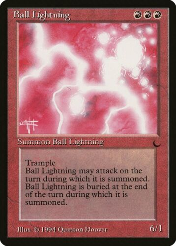 Ball Lightning The Dark NM Red Rare MAGIC THE GATHERING MTG CARD ABUGames