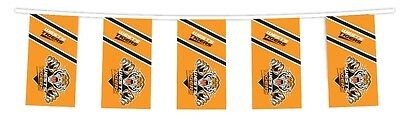NRL WESTS TIGERS Bunting hanging Flag Banner 5m long with 12 flags