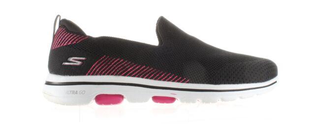 Skechers Womens Go Walk 5 Black/Pink Walking Shoes Size 11 (1897878)