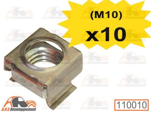 10 ECROUS CAGE NEUFS pour fixation d/'enjoliveur de Citroen 2CV DYANE 110010