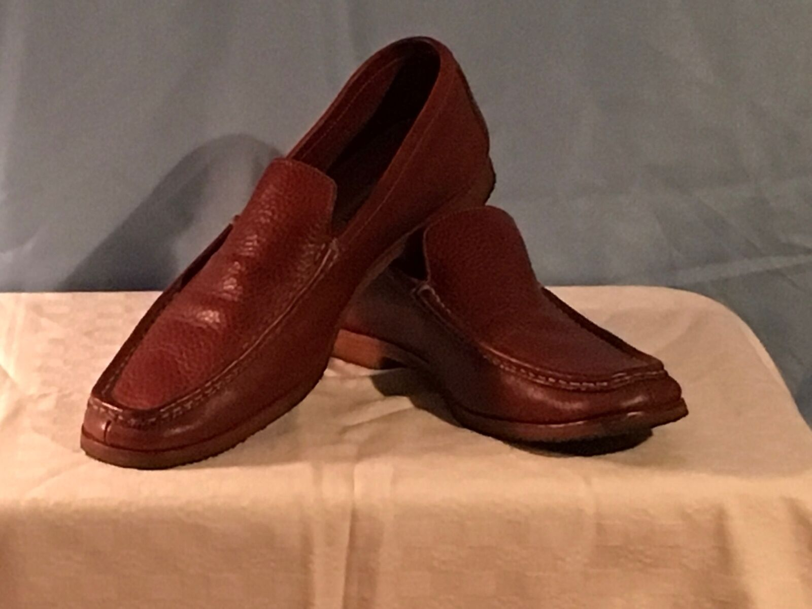 Johnston and Murphy Men's Brown Leather Mocs Size 10.5M