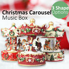 Christmas Carousel Music Box Santa Reindeer Horse Xmas Decoration Home Gift Song