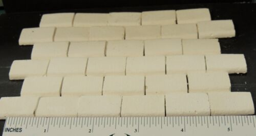 1:12 SCALE WHITE FLOOR TILES 1/'/' X 5//8/'/' FOR YOUR DOLLHOUSE MADE IN THE USA !