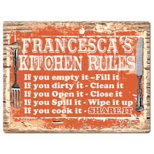 PPKR0966-FRANCESCA-039-S-KITCHEN-RULES-Chic-Sign-Funny-Kitchen-Decor-Birthday-Gift
