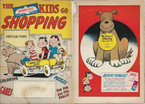 THE BIRDS EYE KIDS GO SHOPPING RARE GIVEAWAY PROMO COMIC 1958 VG//VG FOODS