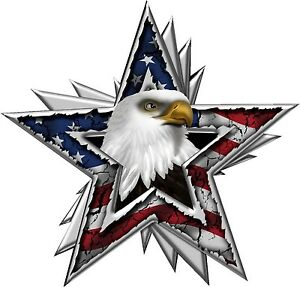 American Flag Eagle Star Decal Large Trailer Wall Truck High