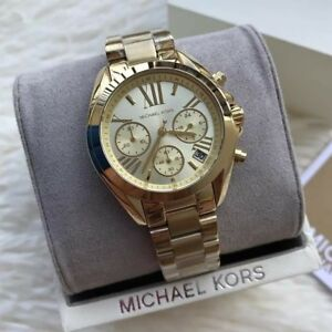 Michael-Kors-Bradshaw-Midsized-Unisex-Chronograph-Watch-Gold-tone-MK5798