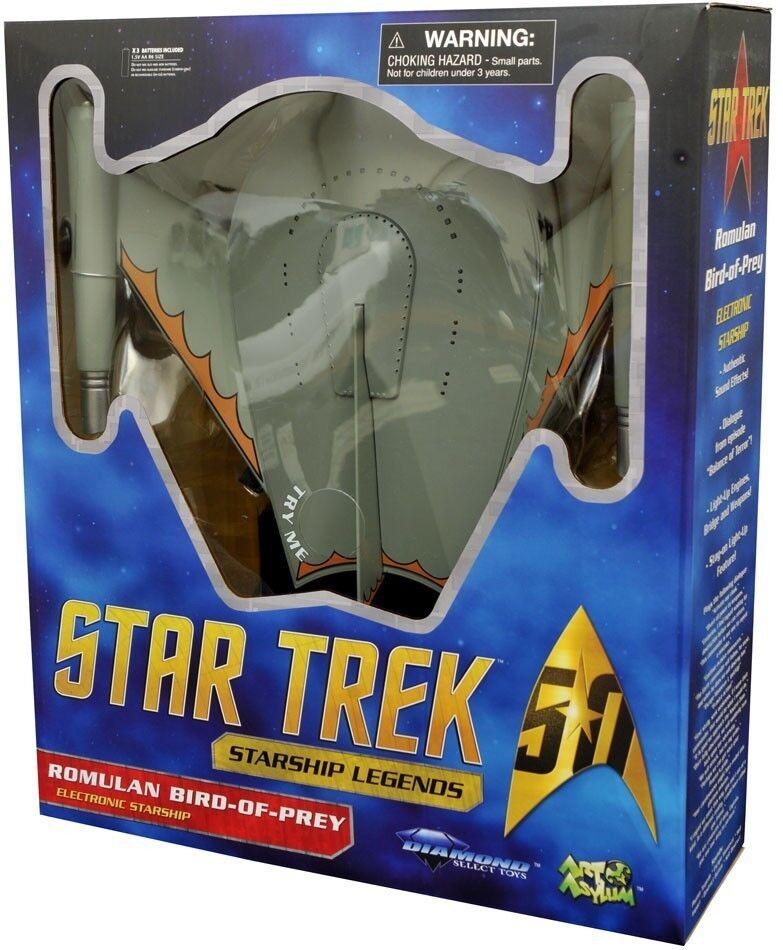 STAR TREK - Romulan Bird-Of-Prey Electronic Starship  Diamond Select   NEW