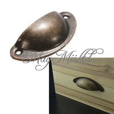 12X Kitchen Cupboard Door Cabinet Cup Drawer Furniture Shell Pull Handle Good G