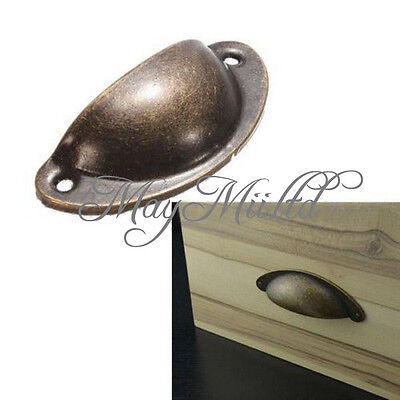 12X Kitchen Cupboard Door Cabinet Cup Drawer Furniture Shell Pull Handle Retro H