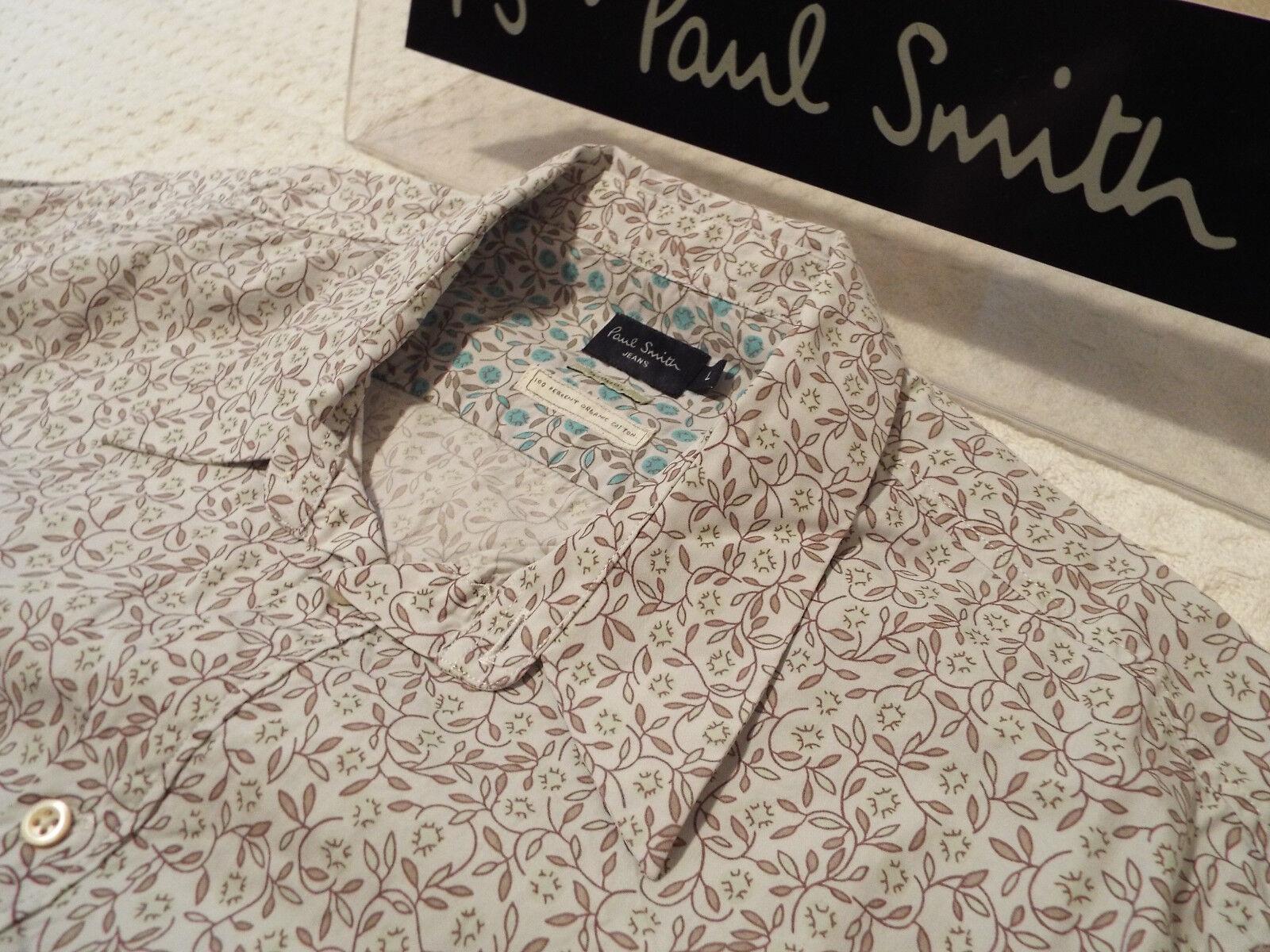 PAUL SMITH Mens Shirt Shirt Shirt  Größe L (CHEST 42 )   +  FLORAL LIBERTY STYLE   Öffnen Sie das Interesse und die Innovation Ihres Kindes, aber auch die Unschuld von Kindern, kindlich, glücklich  18077a