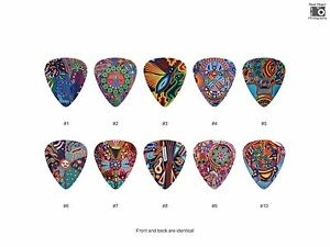 Mexican-Huichol-Yarn-Painting-Guitar-Pick-Set-10pcs-BUY-2-SAME-GET-THE-3RD-FRE