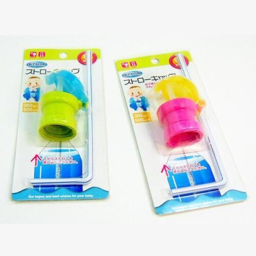 Baby Kids Children Feeding Drink Prevent Choking Straw Bottle Sippy Cup Straw S