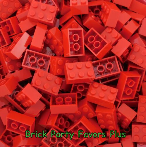 LEGO 2X3 Red Bricks Lot of 50-200 Lego 3002 Bricks 2 x 3 Blocks Elements