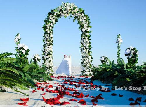 """NEW 90"""" WHITE METAL ARCH - Wedding Party Bridal Prom Garden Floral Decoration"""