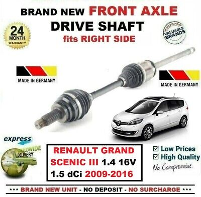 DRIVE SHAFT FITS FOR RENAULT FLUENCE MEGANE SCENIC 1.5 DCI 2009 ON LEFT HAND