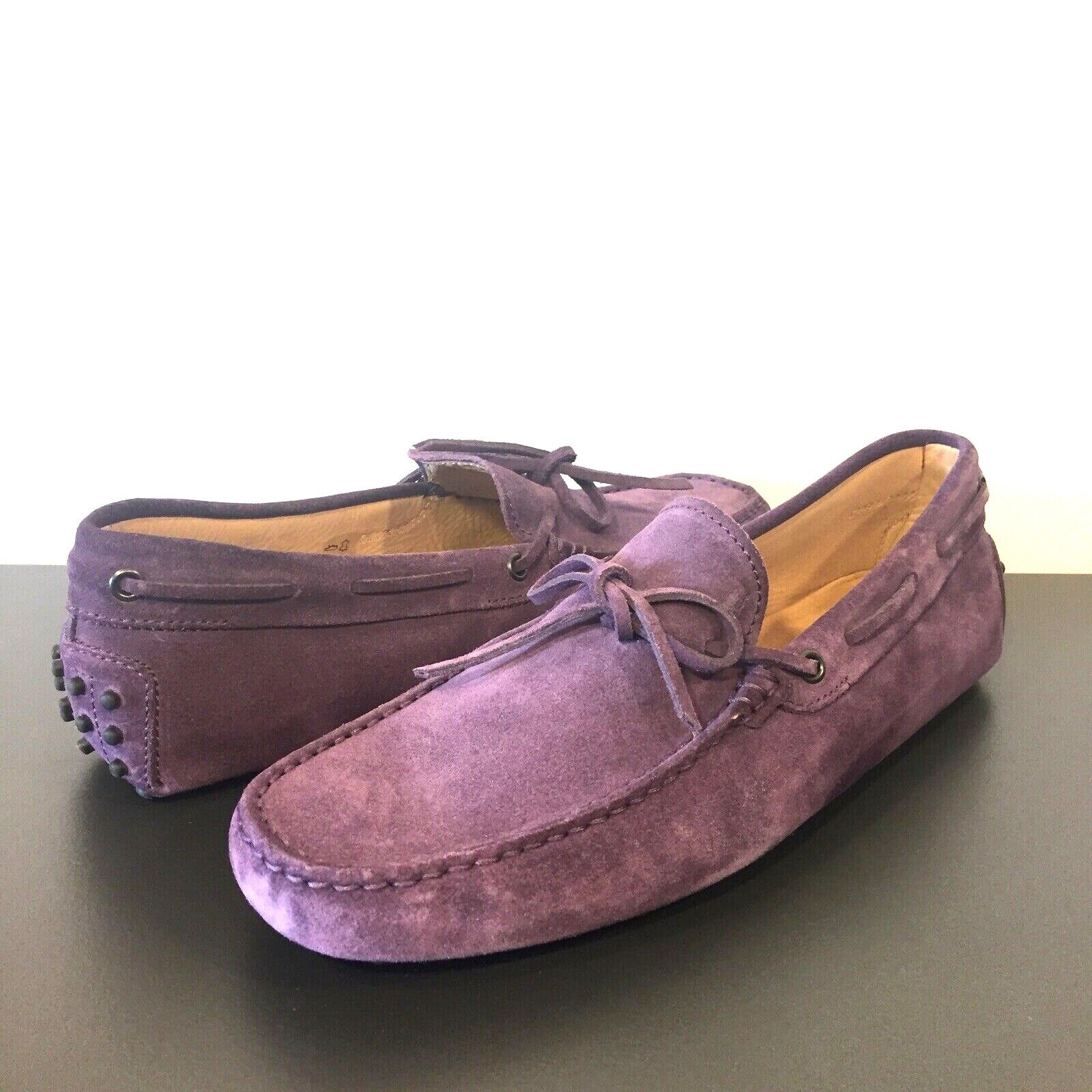 TODS Mens viola Suede Leather Drivers Moccasin Loafers scarpe 8 9 (MSRP  525)
