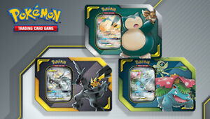 Pokemon TCG Tag Team Tins Set of 3 Pikachu & Zekrom GX Celebi & Venusaur