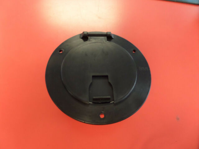 RV BLACK electric POWER CORD CABLE HATCH   round door camper trailer
