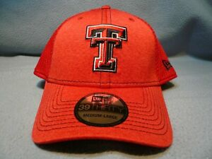 detailed look 31136 bbf9e Image is loading New-Era-39thirty-Texas-Tech-Red-Raiders-M-L-