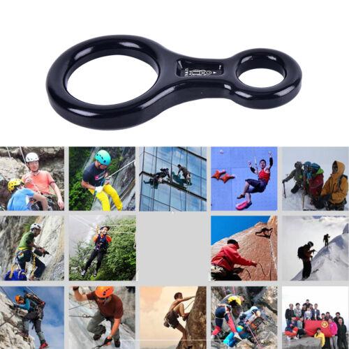35KN Mountaineering Rock Climbing Tree Figure 8Descender Belay Rappel-Equipme UQ