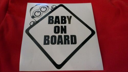 Car decal emblem Baby on board minion sticker funny cool logo bebe a bordo