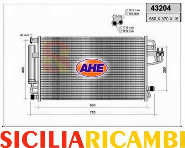 Condensatore aria condizionata Hyundai Tucson e Kia Sportage AHE 43204