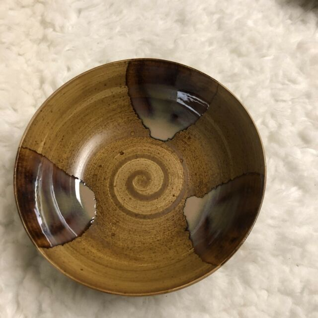 "Sango Splash 4951 Stoneware Brown Glazed 7.75"" Soup Cereal Salad Bowl"