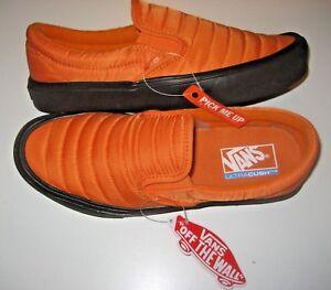d54ab49173 Vans Mens Slip On Lite Quilted Russet Orange Black Skate shoes Size ...