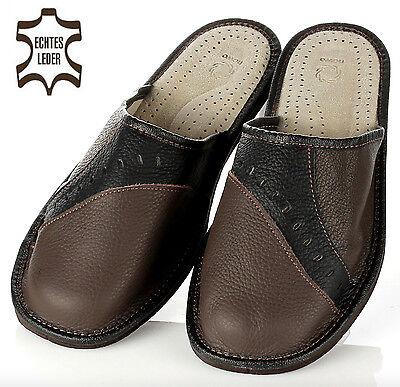 Elegante Herren HausSchuhe Pantoffeln Latschen in braun 41-42-43-44-45-46 NEU