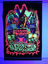 Vintage 1971 Blacklight Poster JESUS CHRIST SUPERSTAR III Mini 17x11 NOS RARE