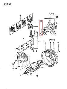 image is loading md011845-engine-crankshaft-bushing-chrysler-conquest-colt- mitsubishi-