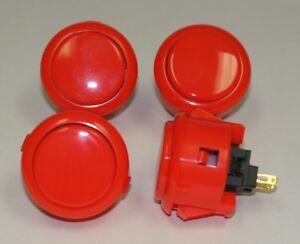DéLicieux Japan Sanwa Buttons Obsf-30-ver Vermillion Color X 4 Pcs Video Game Arcade Parts