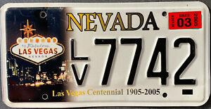 USA Nummernschild NEVADA LAS VEGAS CENTENNIAL GEPRÄGT 7742 US Kennzeichen SCHILD