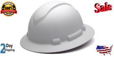 New Carbon Fiber Hard Hat Full Brim Ratchet Suspension Construction Helmets Whit