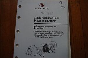 Meritor Transmission Repair manual