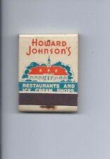 Vintage Matchbook Cover, Howard Johnson's Famous Ice Cream