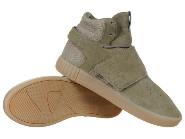 Men's adidas Originals Invader Strap Mid Top Sneakers Everyday Leather Shoes