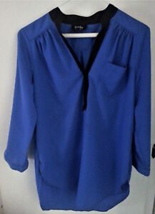 By-By-Shirt-Size-Medium-Women-039-s-Royal-Blue