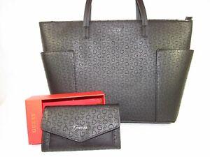 Details about NWT GUESS Purse, Black Handbag