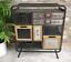 Industrial-Side-Cabinet-Vintage-Storage-Furniture-Rustic-Metal-Drawers-Room-Unit thumbnail 1